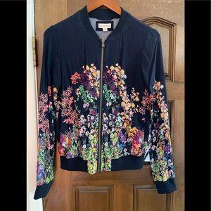 MERONA 100% heavy rayon floral zipper jacket